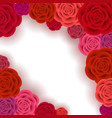 abstract roses frame vector image vector image