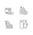 aqua park service linear icons sets