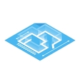 Architectural plan isometric 3d icon vector image vector image