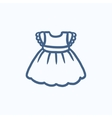 Baby dress sketch icon vector image vector image