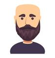 bald dark haired man with beard icon cartoon