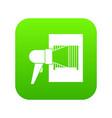 bar code on cargo icon digital green vector image