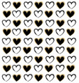 beautiful seamless romantic pattern with hearts vector image