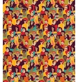 Big crowd happy people color seamless pattern vector image vector image