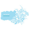ble floral banner vector image