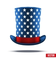 Blue big wizard hat cylinder with white stars vector image vector image