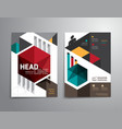brochure flyer magazine cover booklet poster vector image