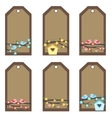 brown tags vector image vector image