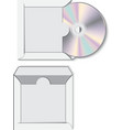 CD disk with paper case vector image vector image