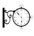 clock ancient black vector image