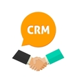 CRM icon customer relationship management vector image vector image