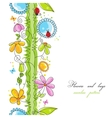 Cute floral borders vector image vector image