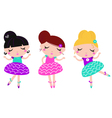 Cute little colorful dancing ballerina girls set vector image vector image