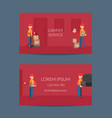 delivery flat elements business card vector image vector image
