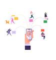digital email media marketing concept promotion vector image vector image
