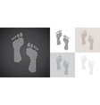 Dotted footprints vector image