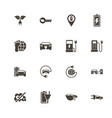 electro car - flat icons vector image vector image