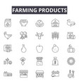 farming products line icons for web and mobile vector image vector image