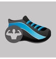 fitness silhouette sneaker gym graphic vector image vector image