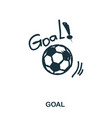 goal icon mobile apps printing and more usage vector image vector image