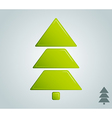 green christmas tree empty blank vector image