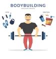 Happy bodybuilder vector image vector image