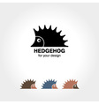 Hedgehog icon vector image vector image