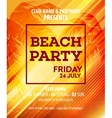 Hello Summer Beach Party Flyer Design vector image vector image
