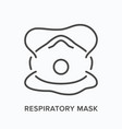 industrial respirator line icon outline vector image vector image