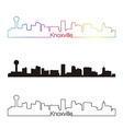 Knoxville skyline linear style with rainbow vector image vector image
