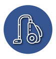 line icon of vacuum cleaner icon with shadow eps vector image vector image