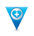 medical heart icon pointer blue vector image vector image