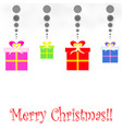 merry christmas card with gift boxes vector image vector image