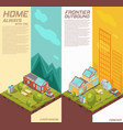 mobile house vertical isometric banners vector image vector image