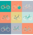 modern flat retro bicycle vector image