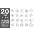 modern thin line icons set modern technology vector image vector image