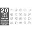 modern thin line icons set modern technology vector image