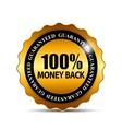 Money Back Guarantee Gold Sign Label vector image vector image