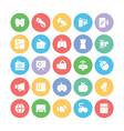 Multimedia Colored Icons 5 vector image vector image