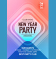 new year party flyer design template vector image vector image