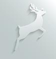 paper reindeer vector image vector image