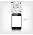 realistic detalized flat smartphone vector image