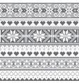 scottish fair isle traditional pattern vector image vector image