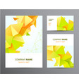 set brochure business card cover vector image vector image