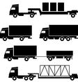Set of icons - transportation symbols Black on whi vector image