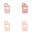 Set of paper stickers on white background Santa in vector image vector image
