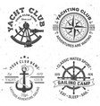 set summer sailing camp badge concept vector image vector image