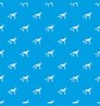 shepherd dog pattern seamless blue vector image vector image