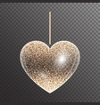 shiny heart with sparkles vector image vector image