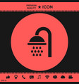 shower icon vector image